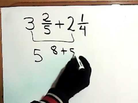 Suma de Fracciones Mixtas en Matematicas