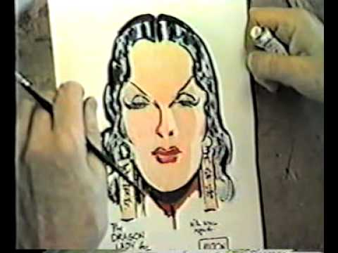 Part 4 of 5: Milt Caniff draws Dragon Lady, talks to Shel Dorf