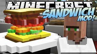 Minecraft | SANDWICH MOD! (The Tallest Sandwich in the World!) | Mod Showcase