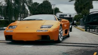 Driving $2 Million Worth of Lamborghinis in Miami. Drive Youtube Channel.