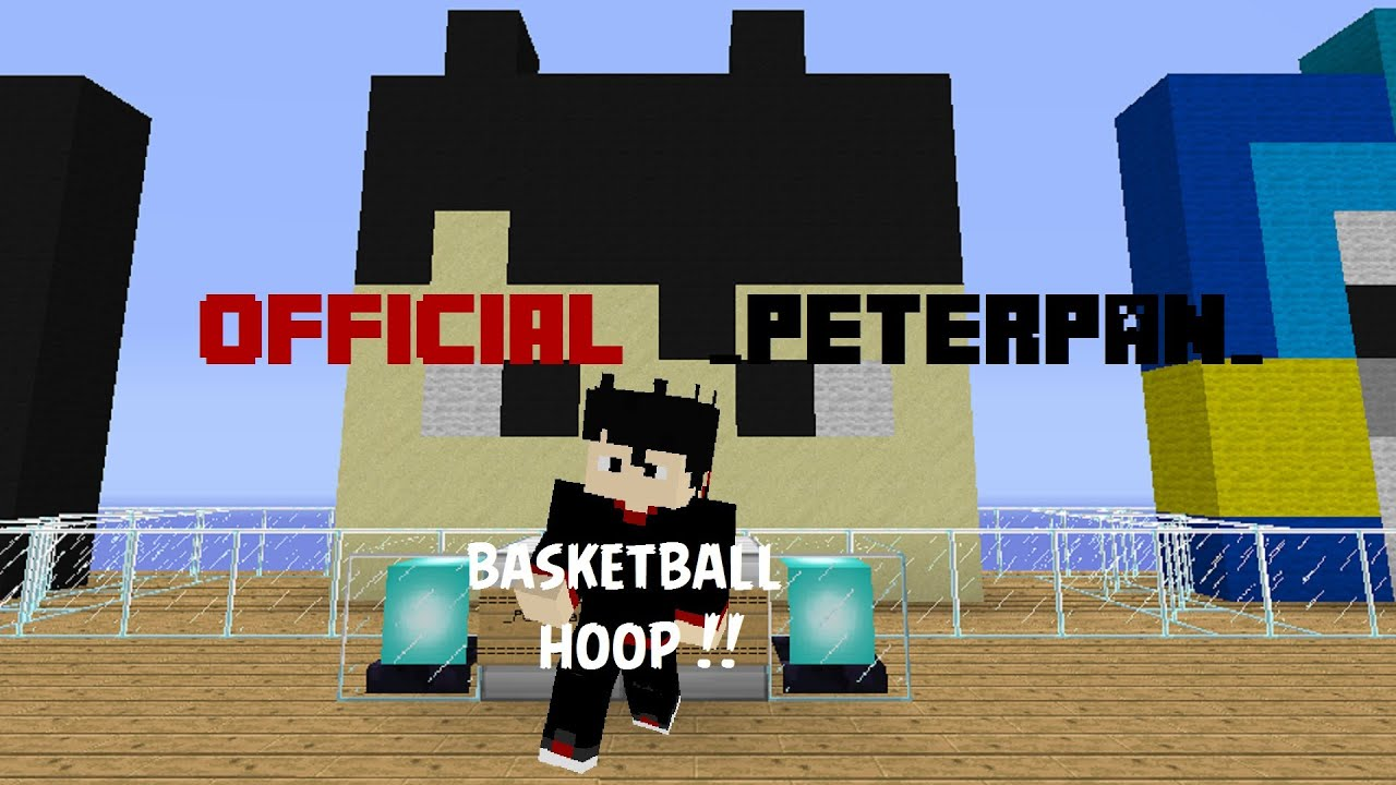 Minecraft how to make basketball hoop in minecraft for How to build a basketball goal