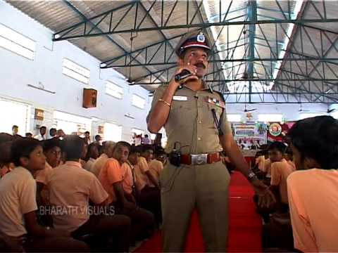 Sylendrababu IPS at Tagore school children interaction 2014