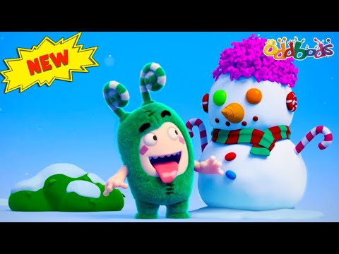 Oddbods | NEW | FROST ZEE THE SNOWMAN | Funny Cartoons For Kids