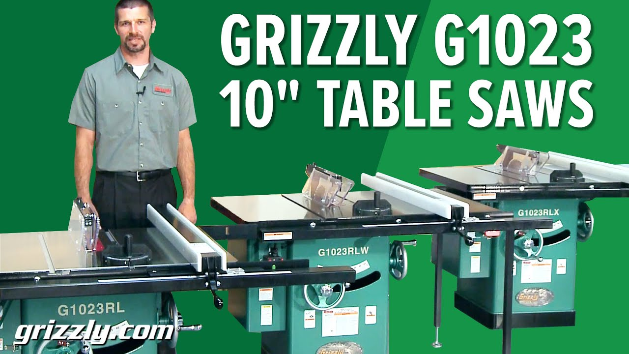 G1023 Series 10 Table Saw Comparison Youtube
