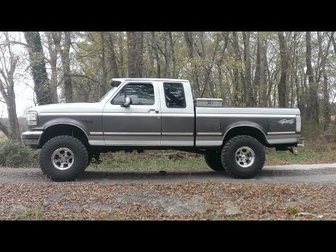 "Amazing 1993 F150 Lifted 6"" on 35's. Before & After - YouTube"