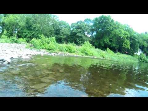 Delaware river Feeder Creek Milford, PA Kayak travel cam