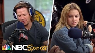 Mark Wahlberg raps in front of teenage daughter