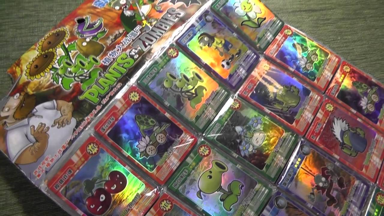 Holly Gets 300 Chinese Plants vs. Zombies Cards - YouTube