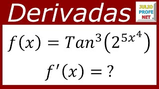 Derivación Con La Regla De La Cadena- Derivation With The
