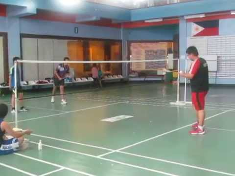 CS Sports Fest 2014 (Badminton) Ubuntu vs Debian 1st set