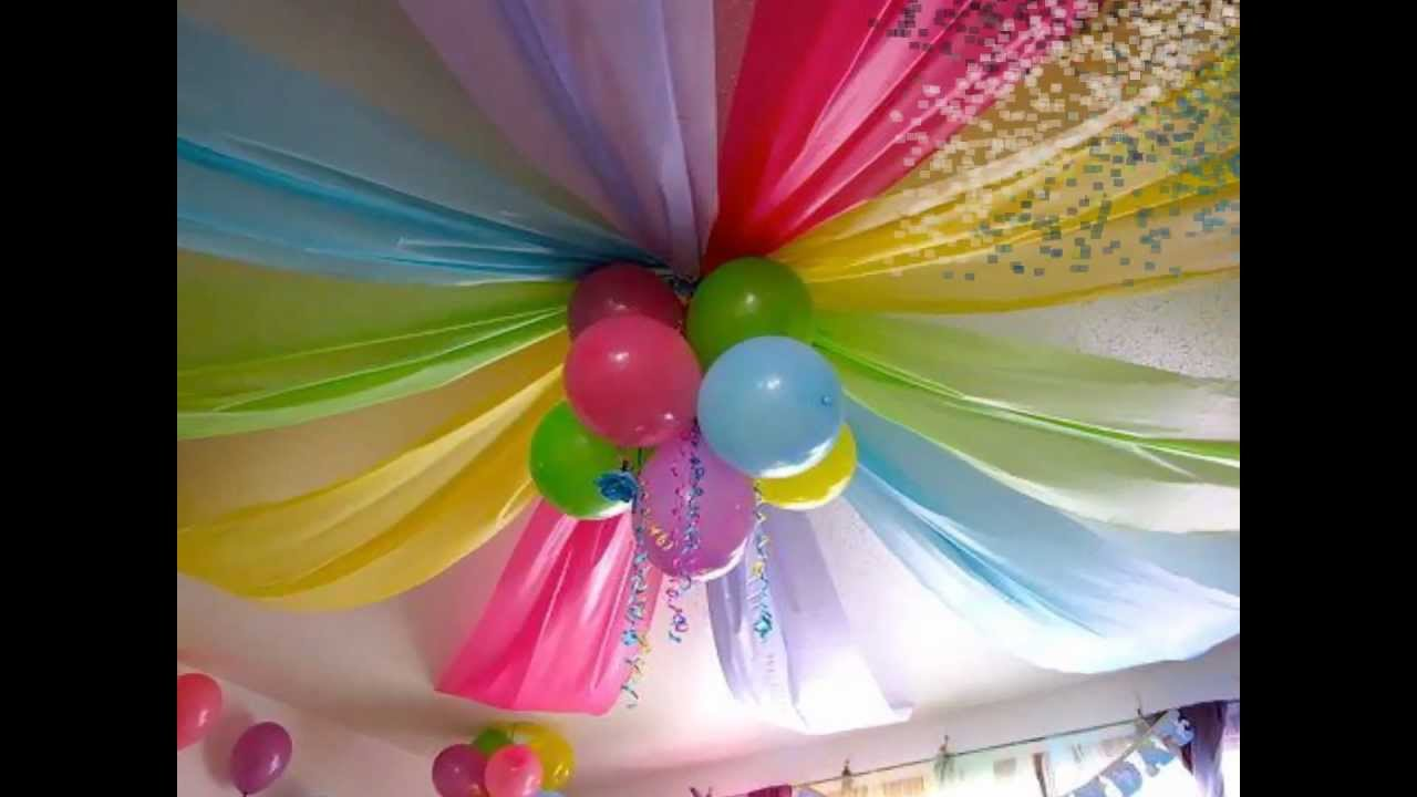 Decoracion para cumplea os infantiles youtube for Decoracion cumpleanos nina 2 anos