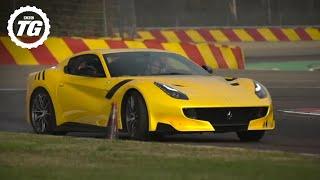 INSANE! Chris Harris Drives The Ferrari F12 TDF - Top Gear. Watch online.