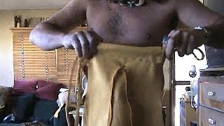 Part 4 How To Make A LEGAL Leather Loincloth, Tarzan
