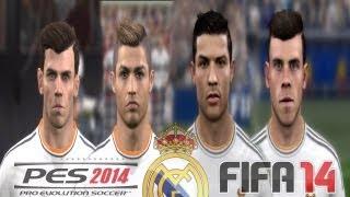 PES 2014 Vs FIFA 14 FACE Comparison REAL MADRID (Ronaldo