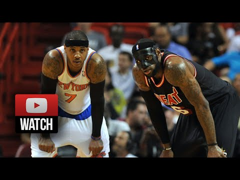 2014.02.27 - LeBron James vs Carmelo Anthony Battle Highlights - Heat vs Knicks