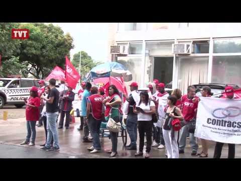 Centrais sindicais protestam em defesa dos direitos trabalhistas