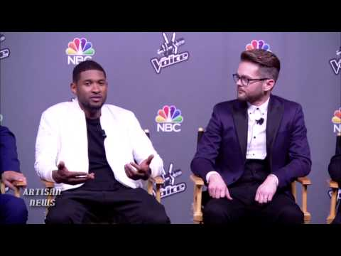 THE VOICE WINNING COACH, USHER, GIVES ADVICE TO NEW COACHES PHARRELL AND GWEN STEFANI