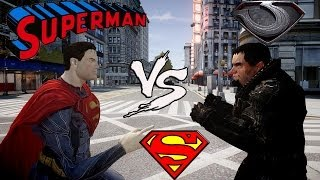 SUPERMAN VS GENERAL ZOD MAN OF STEEL FIGHT GRAND THEFT