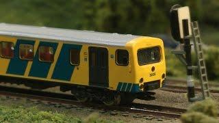Modelleisenbahn in modularen Segmenten in Spur N