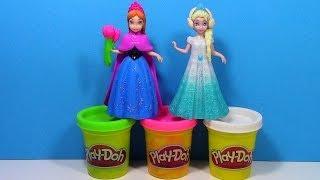 Play-Doh Disney Frozen Anna Elsa MagiClip Dolls Play Doh