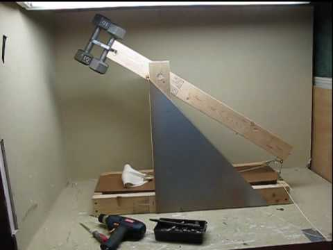 how to make an easy trebuchet