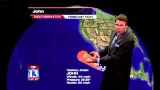 Tropical Storm John Weatherman Blooper