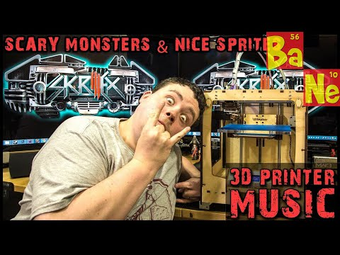 SKRILLEX Scary Monsters and Nice Sprites on Ultimaker 3D Printer