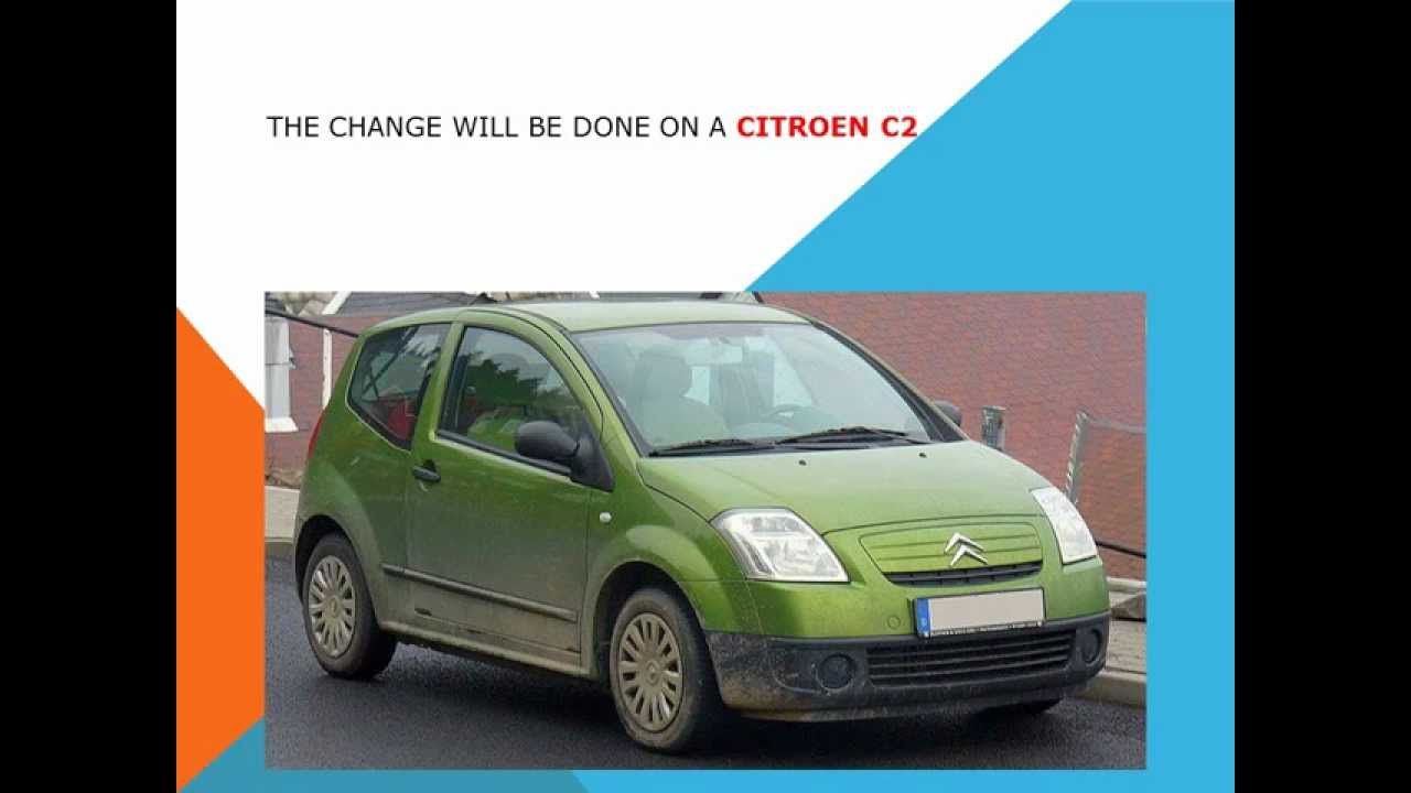 How to replace the air cabin filter dust pollen filter on a Citroen C2