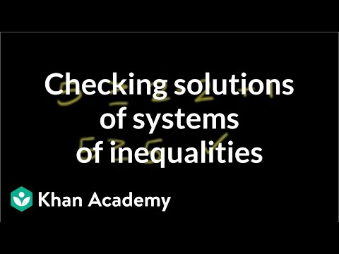 Testing Solutions for a System of Inequalities