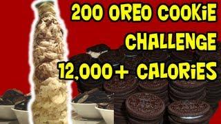 200 Oreo Tower Challenge (12,000+Cals)