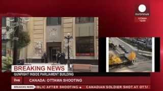 EN - Canada: Raw video of shooting inside Parliament