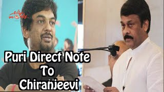 Open letter by Puri Jagannadh about Chiru 150th movie