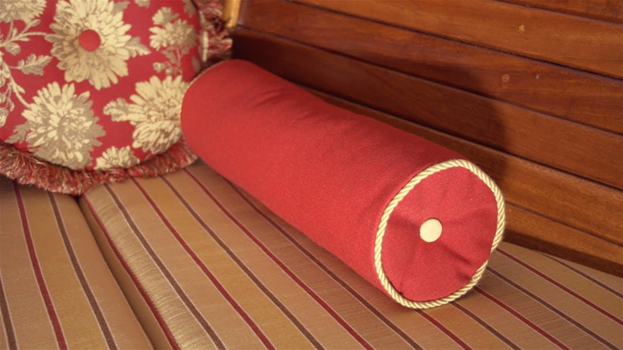 How To Make A Throw Pillow With Piping : How to Make a Neckroll Pillow with Piping - YouTube
