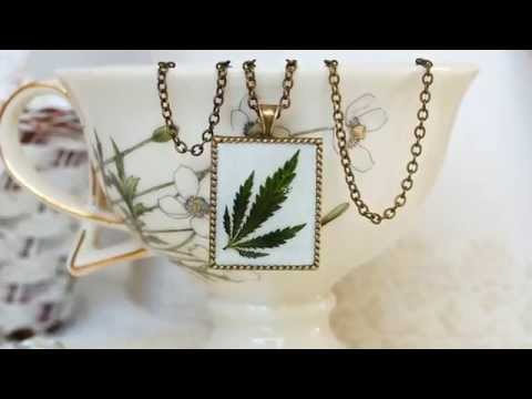 Handmade Botanical jewelry Unique resin jewelry with real plants by BotanicaJewelry