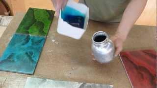 Imitación marmol fosforecente en colores