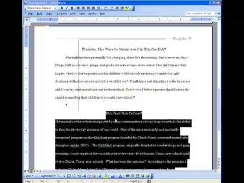 term paper citation
