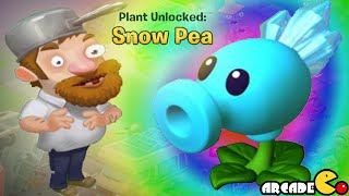 Plants Vs Zombies Adventure New Plants Unlocked Snow Pea