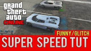 """GTA ONLINE SUPER SPEED GLITCH"" HOW TO TUTORIAL (GTA 5"