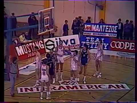 QUALIFYING FOR EUROBASKET '89:HELLAS-CZECHOSLOVAKIA 107-85 (GAME 6)