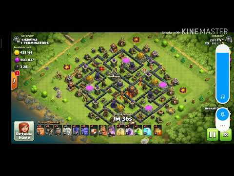 TH10 - Single star defense (wizard towers on upgrade) - Funny 😂
