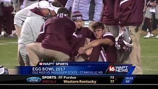 Ole Miss upsets #14 Mississippi State in Egg Bowl