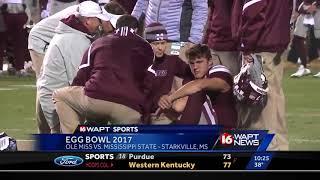 Ole Miss upsets #14 Mississippi State in Egg Bowl