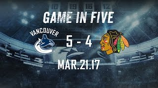 Canucks vs. Blackhawks Game in Five (Mar. 21, 2017)