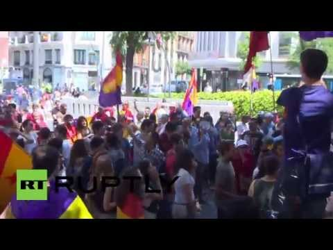 Spain: Anti-Monarchy protesters defy ban