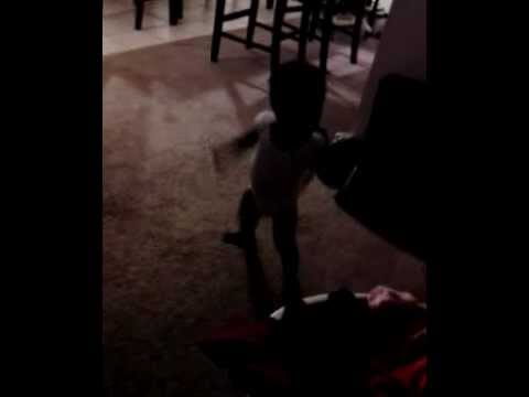 Brooklyn dancing while watching beyonce