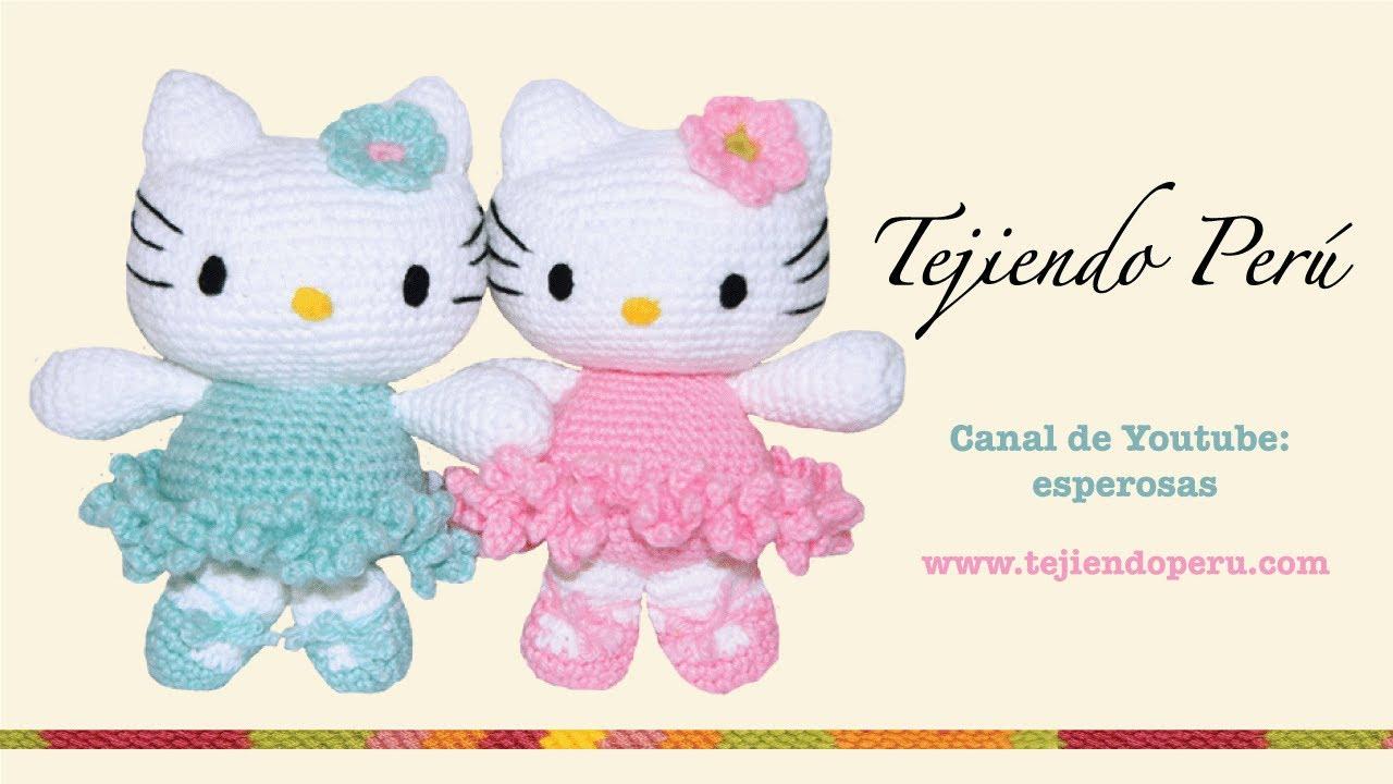 Hello Kitty tejida a crochet (amigurumi) Parte 1: cabeza - YouTube