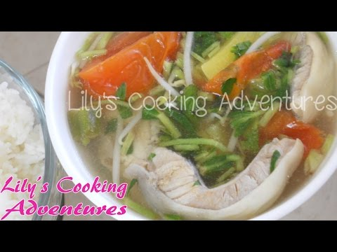 Canh Chua Ca Bong Lau | Vietnamese Sour Fish Soup Recipe | How to make Canh Chua