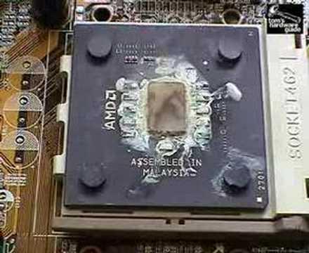 Как горят древние процессоры.