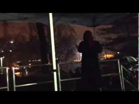 2013 Roosevelt Island Tree Lighting - RIOC Public Safety Officer Deborah Vielr Performs