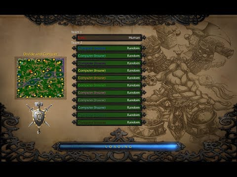 Warcraft 3. 1 vs 11 insane computers (pt.1)